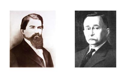 John Pemberton à esquerda e Frank Robinson à direita