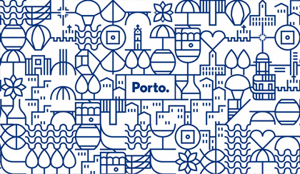 """«Legenda: Um exemplo do grafismo aplicado num painel de """"azulejos"""".»"""